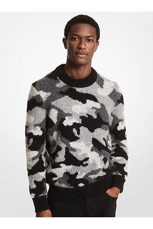 Michael Kors Men Sweaters - MK Camouflage Alpaca and Merino Wool Sweater - - Michael Kors