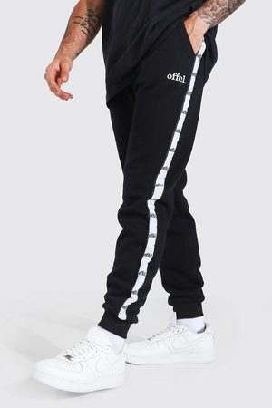 Boohoo Men Joggers - Mens Regular Fit Joggers With Offcl Side Tape
