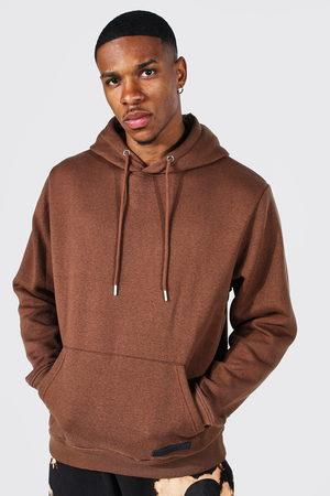 Boohoo Men Sweatshirts - Mens Rust Over The Head Hoodie With Rubber Tab