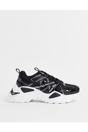 Fila Interation trainers in black and white