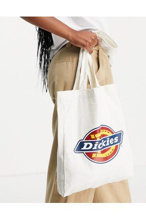 Dickies Icon Logo tote bag in ecru-White