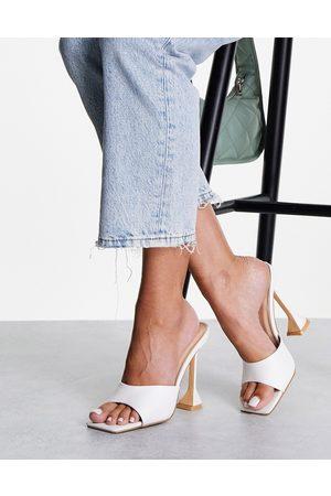 Glamorous Heel sandals with statement heel in white