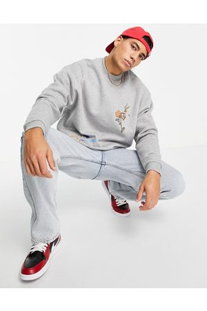 ASOS Space Jam: A New Legacy oversized sweatshirt with print in marl