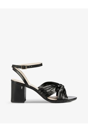Ted Baker Women Sandals - Tabbo knot-detail leather sandals