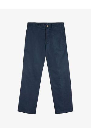 Ted Baker Cornwol centre-crease regular-fit straight cotton-twill trousers