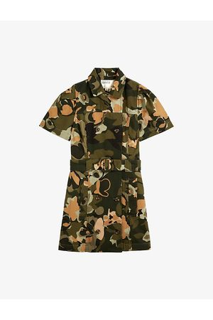 Ted Baker Camouflage-print cotton mini dress