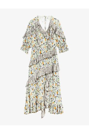Ted Baker Scilly floral-print asymmetric woven midi dress