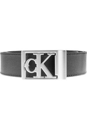 Calvin Klein Men Belts - Jeans CK Logo Plaque Belt