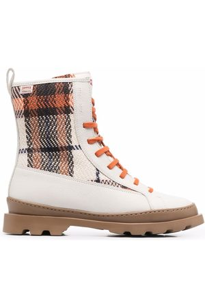 Camper Women Boots - Brutus check boots
