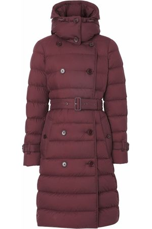 Burberry Women Coats - Double-breasted hooded coat