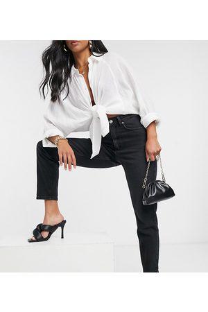 ASOS ASOS DESIGN Petite high rise 'lift and contour' slim mom jeans in