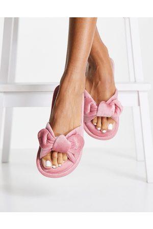 Hunkemöller Velour knot slippers in