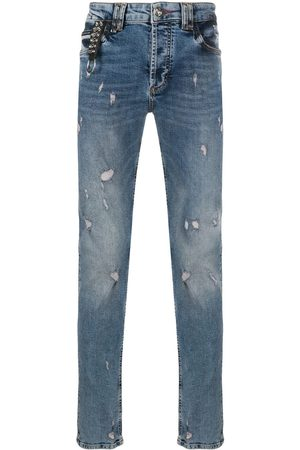 Philipp Plein Men Straight - Distressed straight jeans