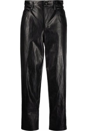 Pinko Cropped leather-effect trousers