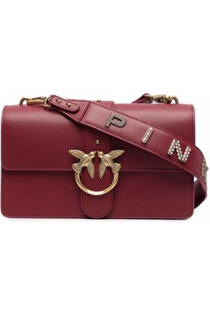 Pinko Love Birds-buckle shoulder bag