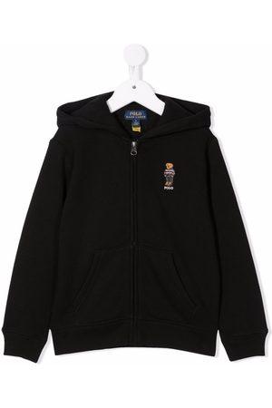 Ralph Lauren Polo Bear-embroidered zip-up hoodie