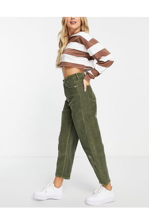 Whistles High waisted straight leg cord pants in -Green