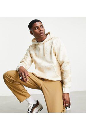 Berghaus Heritage Small Logo tie dye hoodie in beige Exclusive at ASOS-Brown