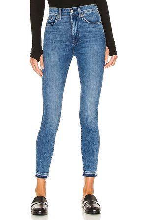 7 for all Mankind High Waist Ankle Skinny Let Down in .