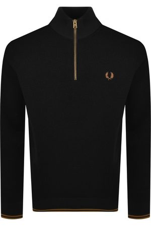 Fred Perry Men Sweaters - Half Zip Textured Knit Jumper