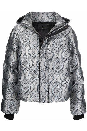 Daily paper Men Winter Jackets - Lotan metallic puffer jacket