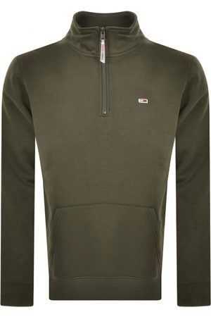Tommy Hilfiger Half Zip Mock Neck Sweatshirt