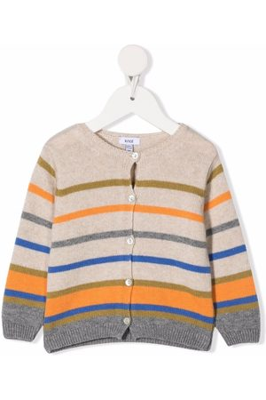 KNOT Cardigans - Sky striped-knit cardigan