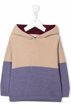 KNOT Boys Hoodies - Gray colourblock knitted hoodie