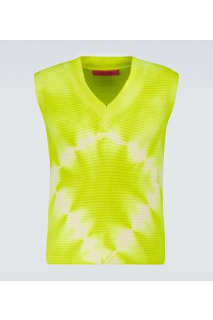 The Elder Statesman Diamond Horizon V-neck vest