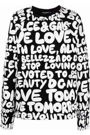 Dolce & Gabbana Men Sweatshirts - Logo-print crew-neck sweatshirt