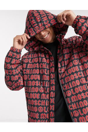 Love Moschino Hooded padded jacket in allover print