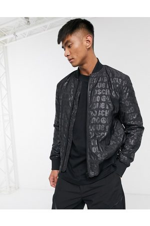 Love Moschino Men Winter Jackets - Padded bomber jacket in allover print