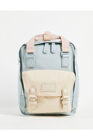 Doughnut Macaroon Mini backpack in baby blue and pink-Multi