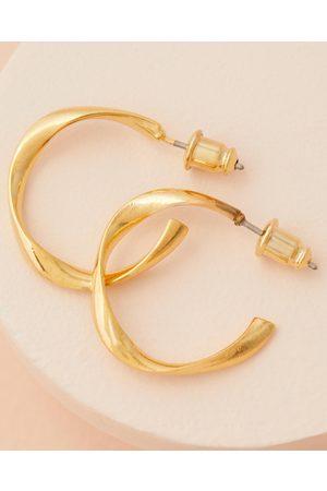 Orelia Organic Open Circle Hoops - Jewellery (Pale ) Organic Open Circle Hoops
