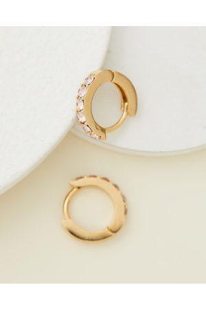 Orelia Swarovski® Pave Huggie Hoops - Jewellery (Pale ) Swarovski® Pave Huggie Hoops