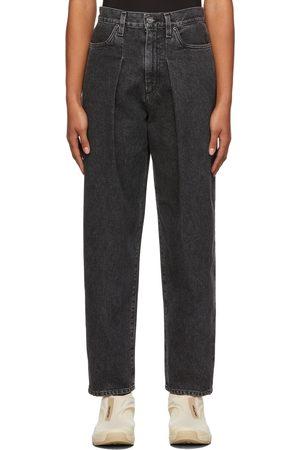 Goldsign Women Jeans - Grey 'The Pleat Curve' Jeans