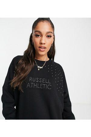 Russell Athletic Crew neck stud sweatshirt in