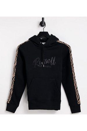 Russell Athletic Animal print pullover hoodie in black