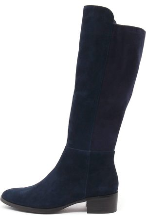 Tetley Navy Navy Boots Womens Shoes Casual Long Boots