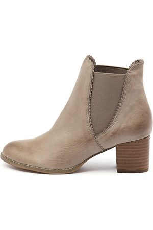 Sadore Taupe Boots Womens Shoes Dress Ankle Boots