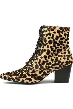 Sol Sana Women Ankle Boots - Eleanor Boot Leopard Boots Womens Shoes Dress Ankle Boots