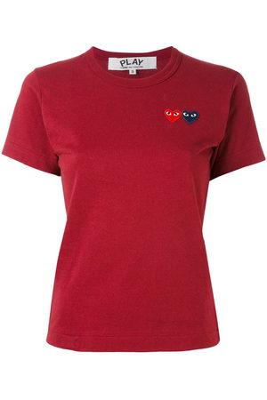 Comme des Garçons Slim-fit heart patch T-shirt