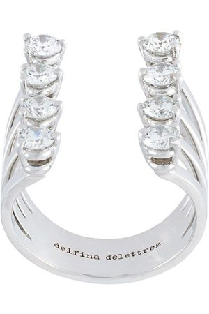DELFINA DELETTREZ Women Rings - Dots' diamond ring