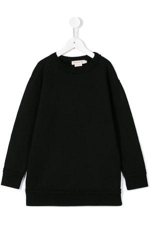 Le pandorine Frayed edge sweatshirt dress
