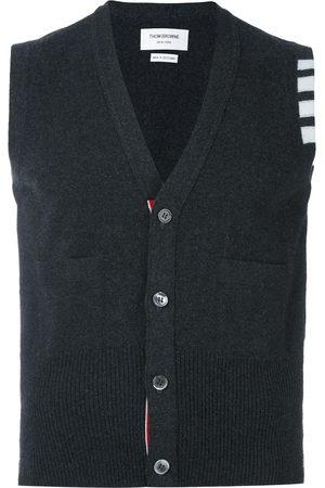 Thom Browne Men Cardigans - V-Neck Cardigan Vest In Cashmere