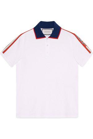 Gucci Cotton polo with stripe