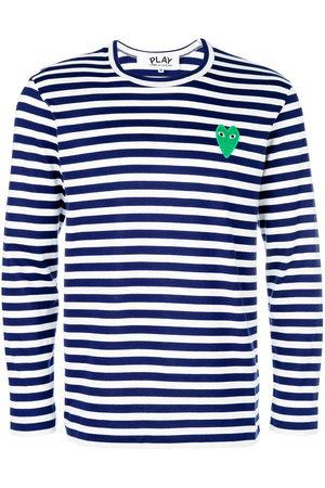 Comme des Garçons Mini heart striped jumper