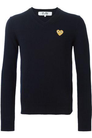 Comme des Garçons Embroidered heart sweater