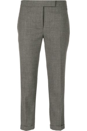 Thom Browne Lowrise Skinny Trousers In Medium 2-Ply Wool Fresco