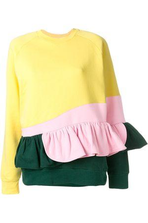 Ioana Ciolacu Women Sweatshirts - Frilled colour block sweatshirt